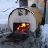 薪の風呂釜
