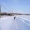 大雪の後で、家までラッセル