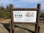 王子が岳の名前の由来の看板:岡山県玉野市